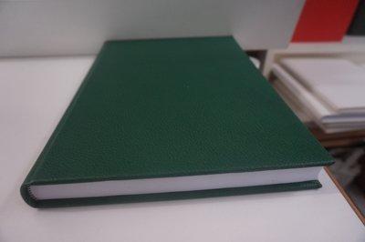 Groen notitieboek leer