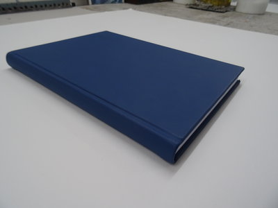 Blauw leren notitieboek a4