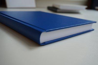 blauw notitieboek a5