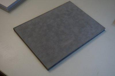 grijs fleece hardcover a4 notitieboek